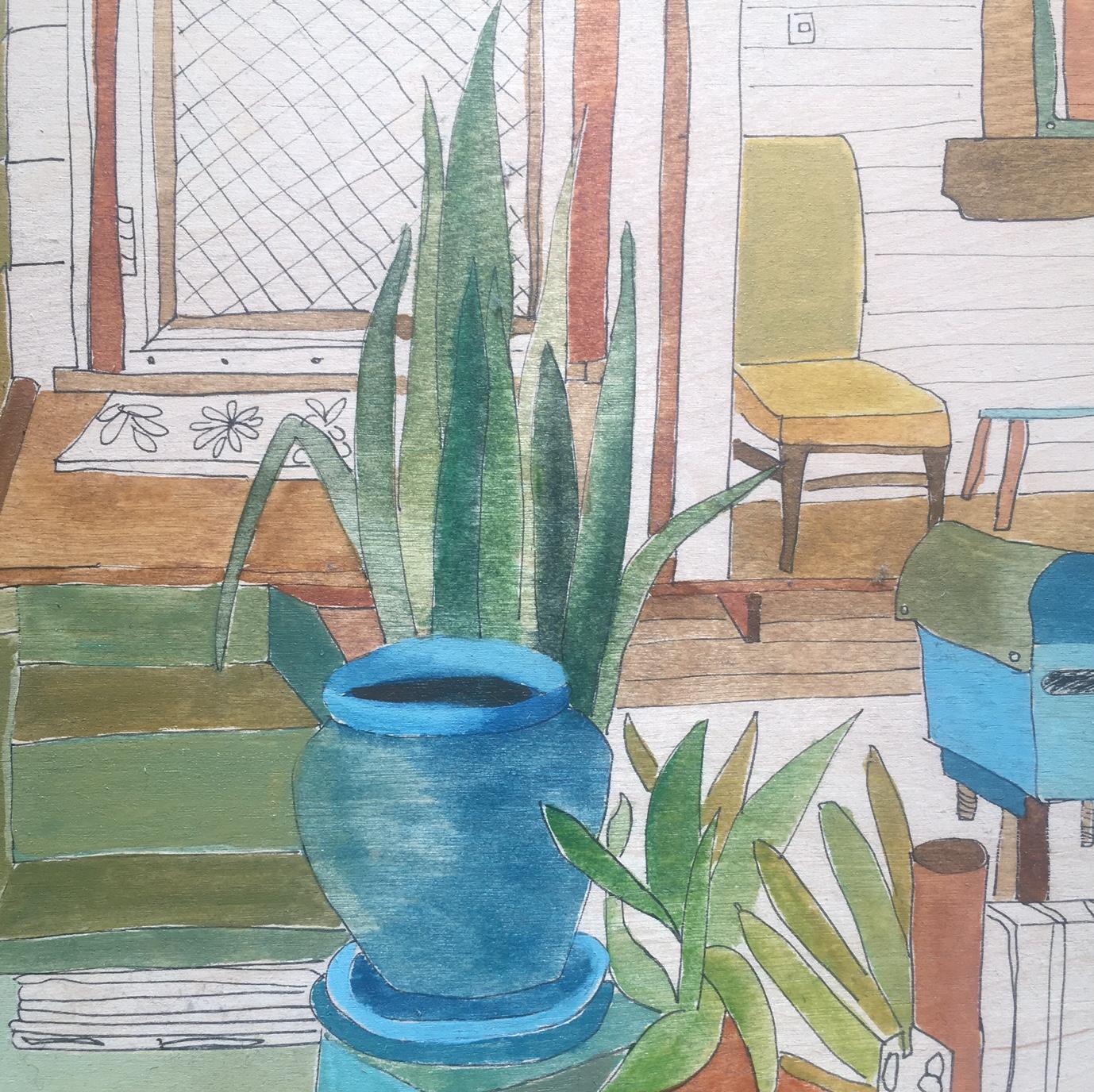 Lisa Pollard_Hewison St_2017_ watercolour & ink on board_20 X 20 cm.jpg
