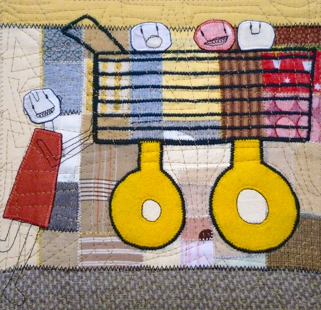 Trolley  2017 21 x 22cm (artwork size) 30 x 30cm (paper size)