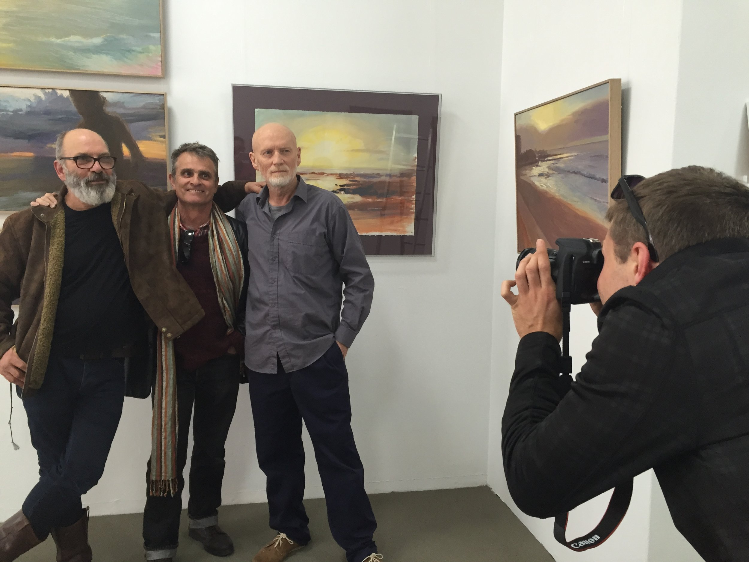 Mark Connors taking photo for article   Newcastle artist's dawn work on display at Gallery 139     11 August 2015