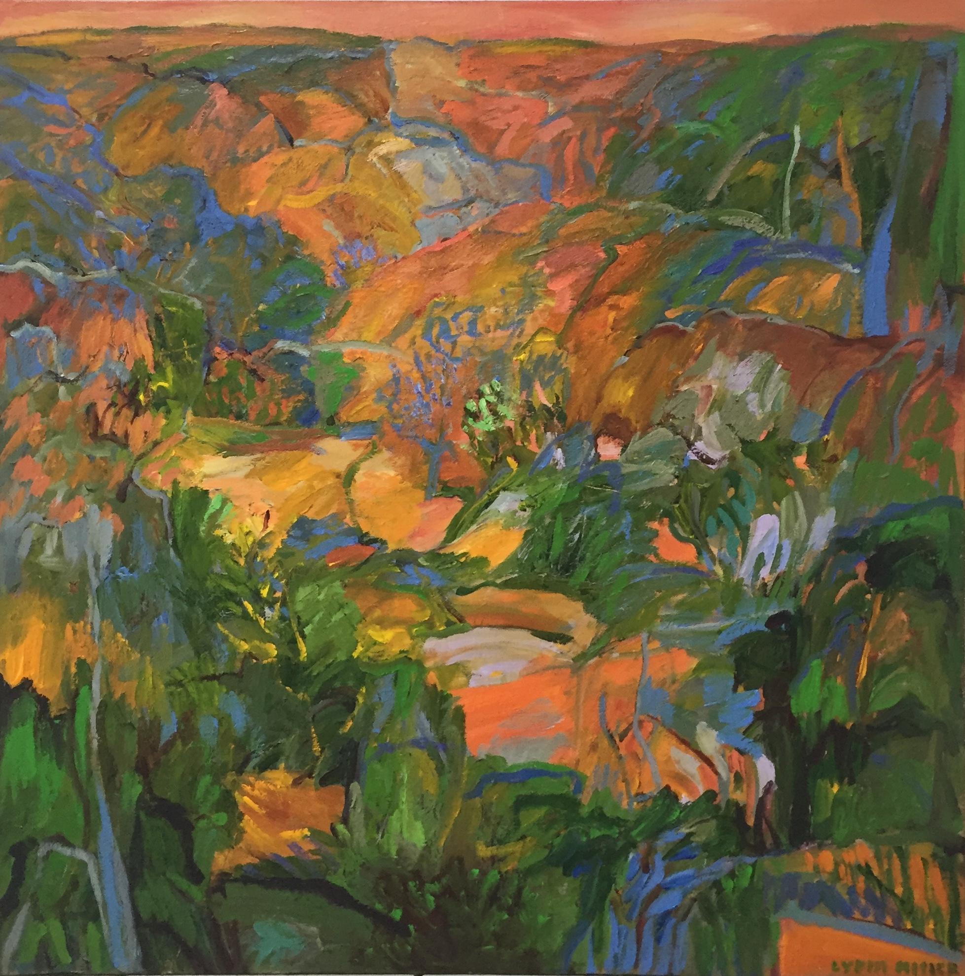 Lydia Miller Verdant oil on canvas 76 x 76cm  $900.00.JPG