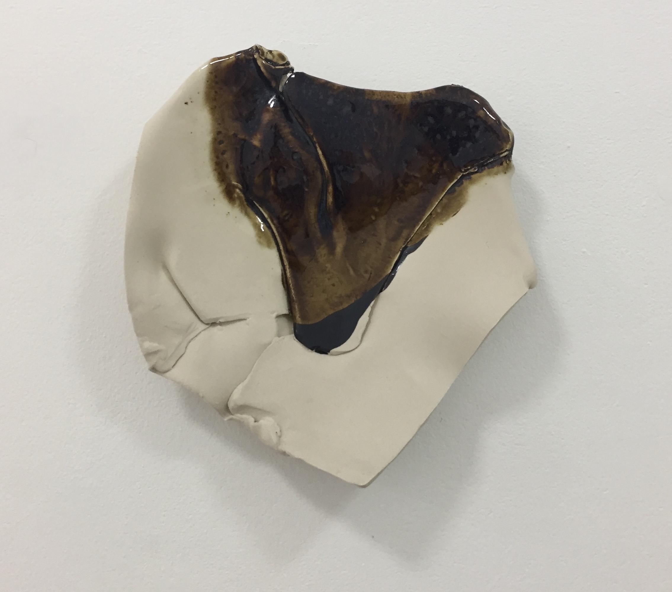 Girlfriend 2018 stoneware with Black Shino & Ash glazes 31x 32 x7.5cm