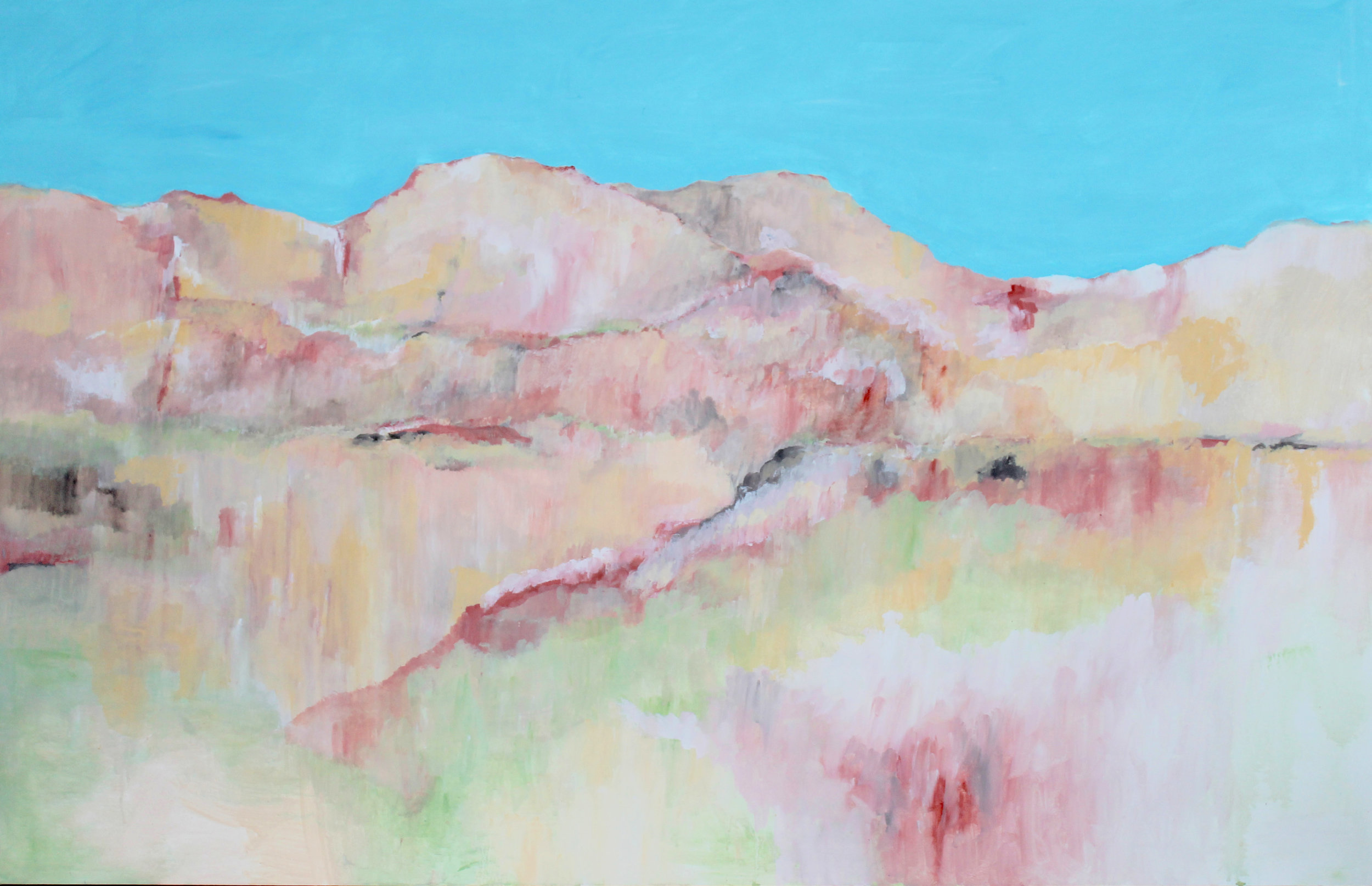 Escarpment  2016 acrylic on canvas 170 x 110 cm