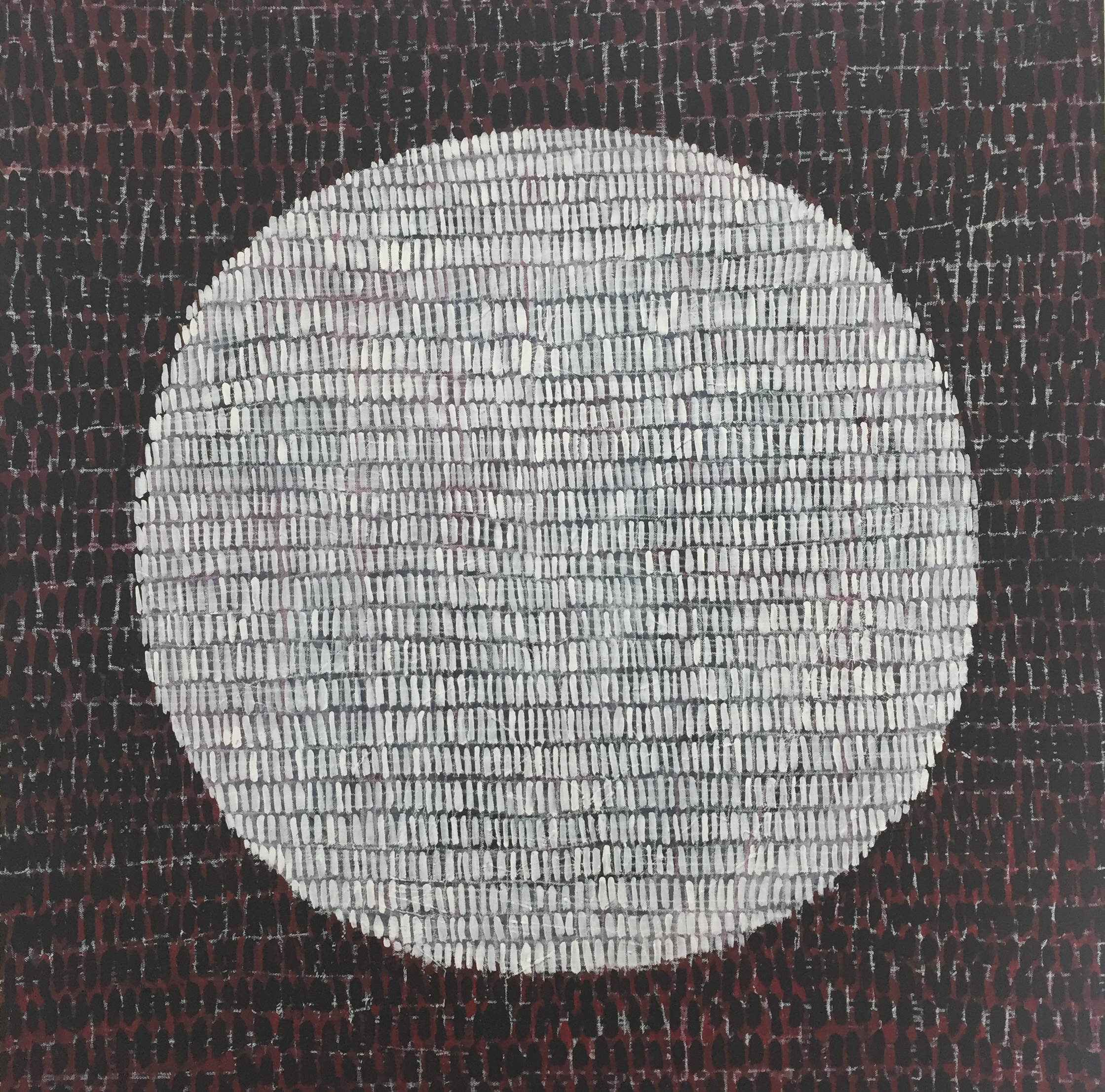 Caelli Jo Brooker_Full Moon (Blood) 2018_acrylic, ink, crayon on canvas and board_90 x90cm_$540.00.JPG