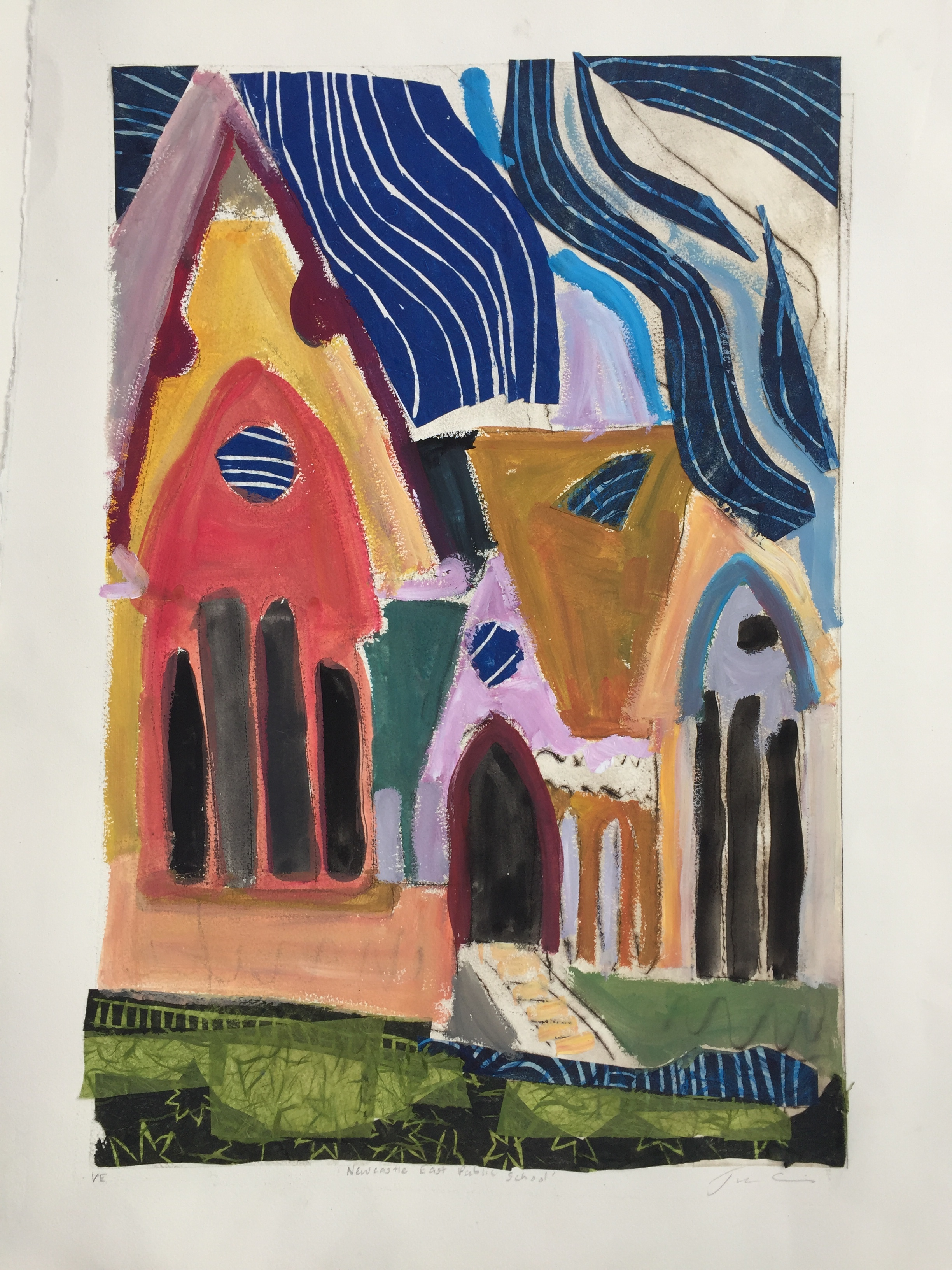 Jane Collins_Newcastle East Public School_2018_printmaking, collage and paint_76 x 56cm_$650.00.jpg