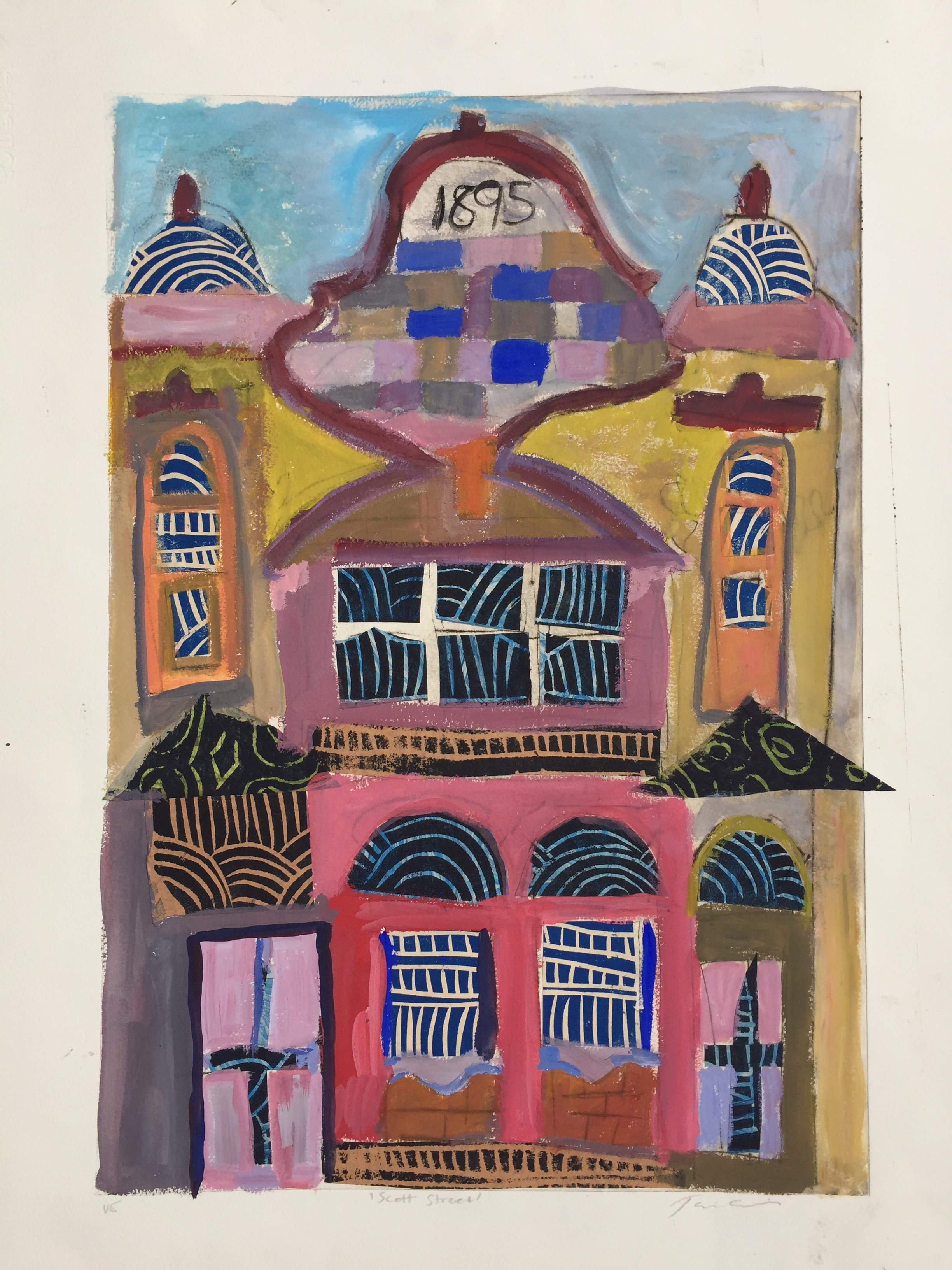 Jane Collins_Scott Street_2018_printmaking, collage and paint_76 x 56cm_$650.00.jpg