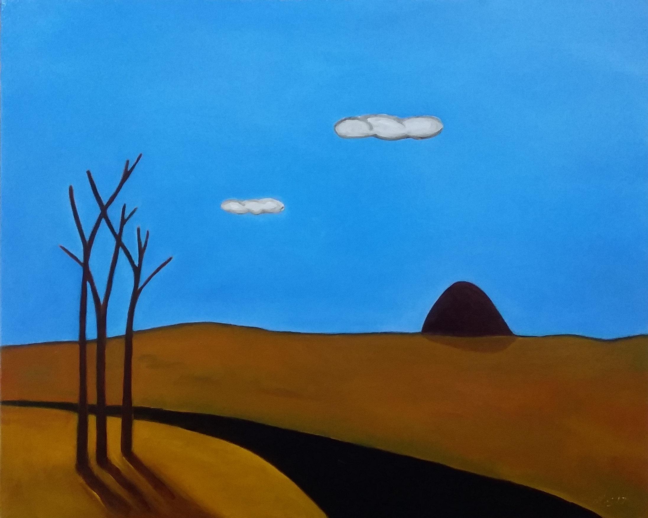 Malcolm Sands  Wollemi Landform Kandos  2018 oil on canvas 64 x 79.5cm