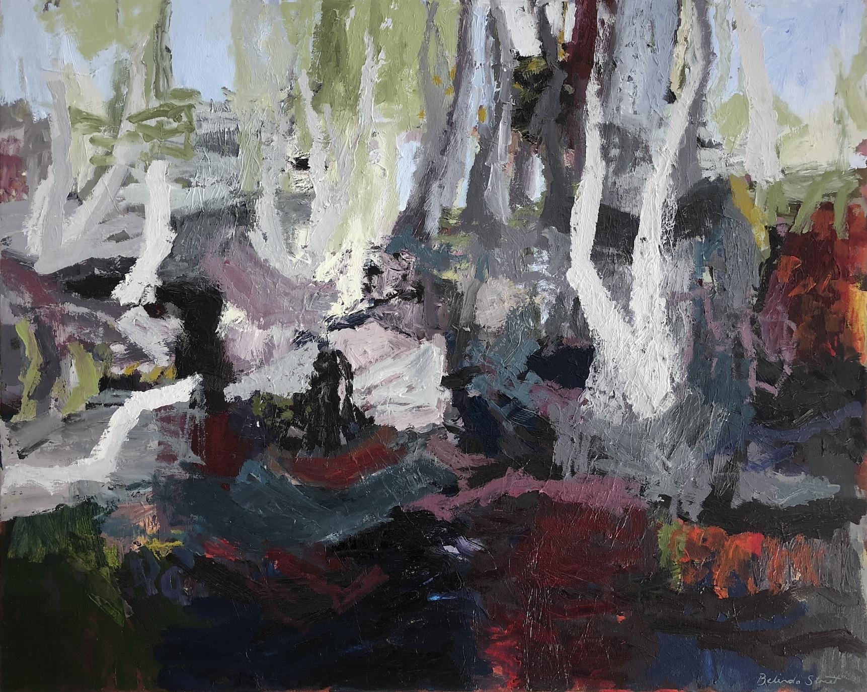 Belinda Street  Ganguddy Depths  2018 oil on canvas 80 x 100cm  $2500.00