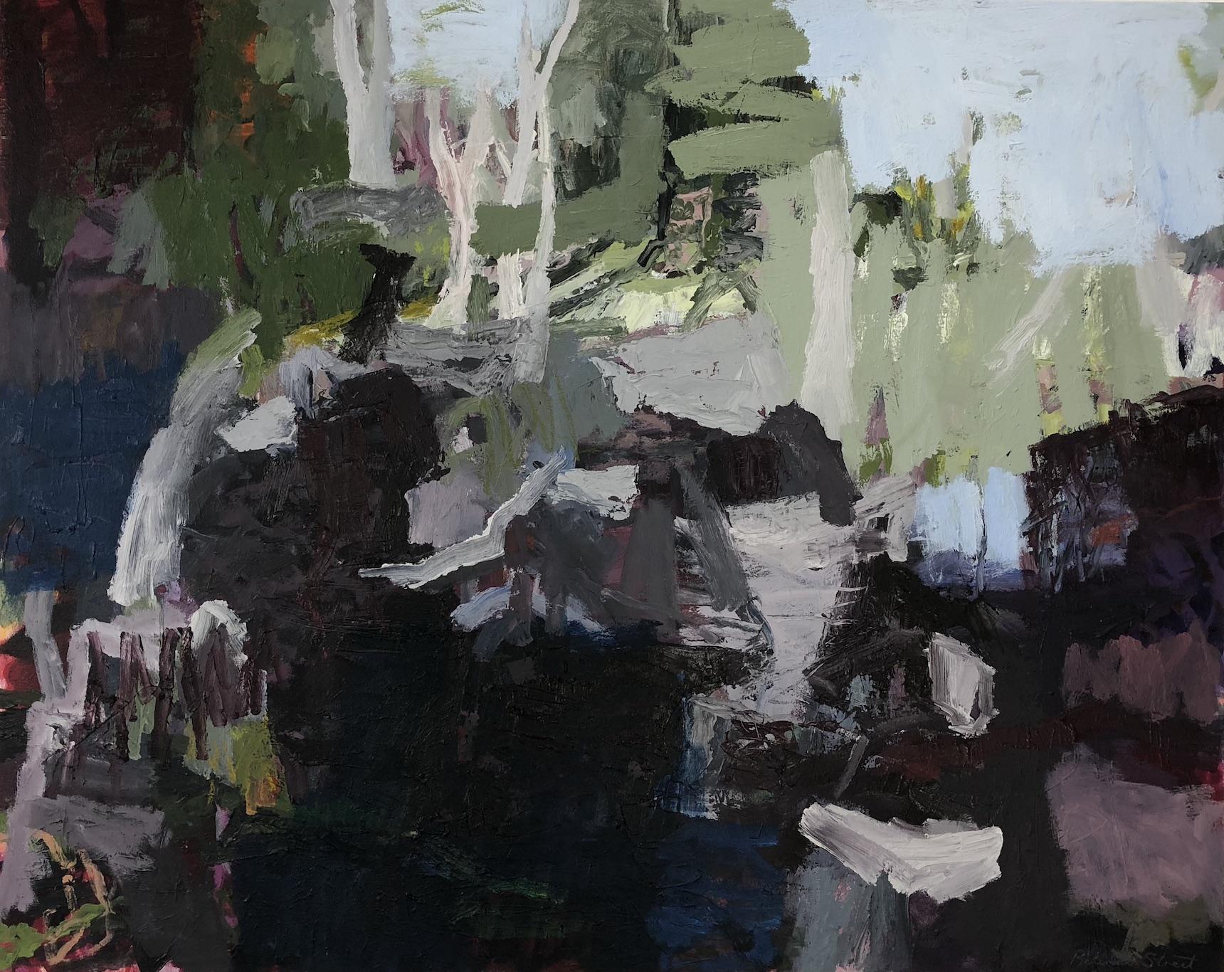 Belinda Street   Ganguddy Reflections  2018 oil on canvas 80 x 100cm  $2500.00