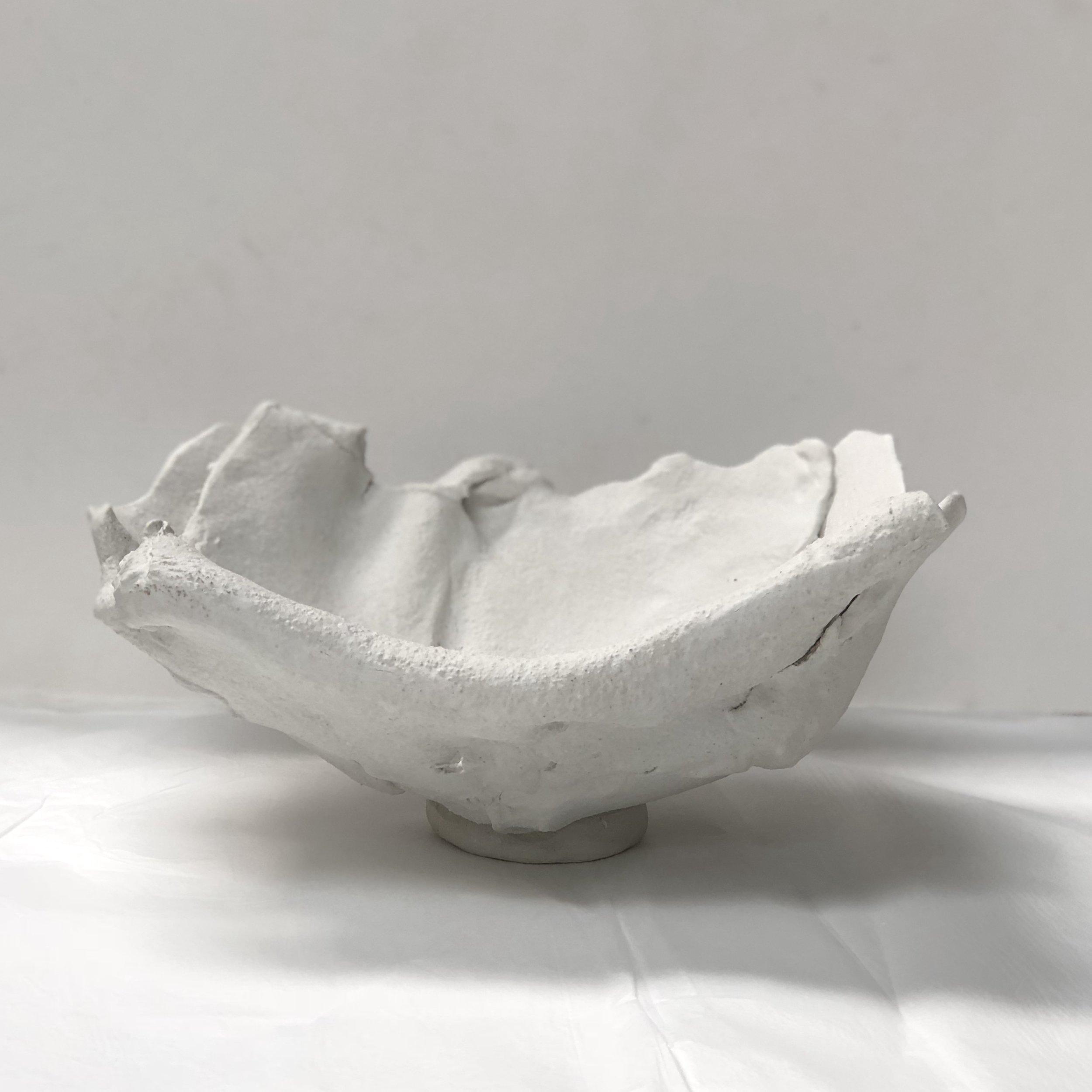 John Heaney  White bowl  2017 stoneware $350.00