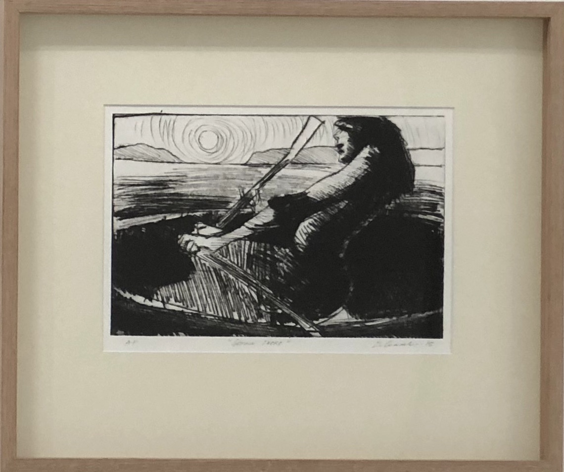 Getting there  2018  drypoint etching artist proof  42 x 50cm framed $650.00 for purchase enquiries please contact info@gallery139.com.au or 0434 886 450