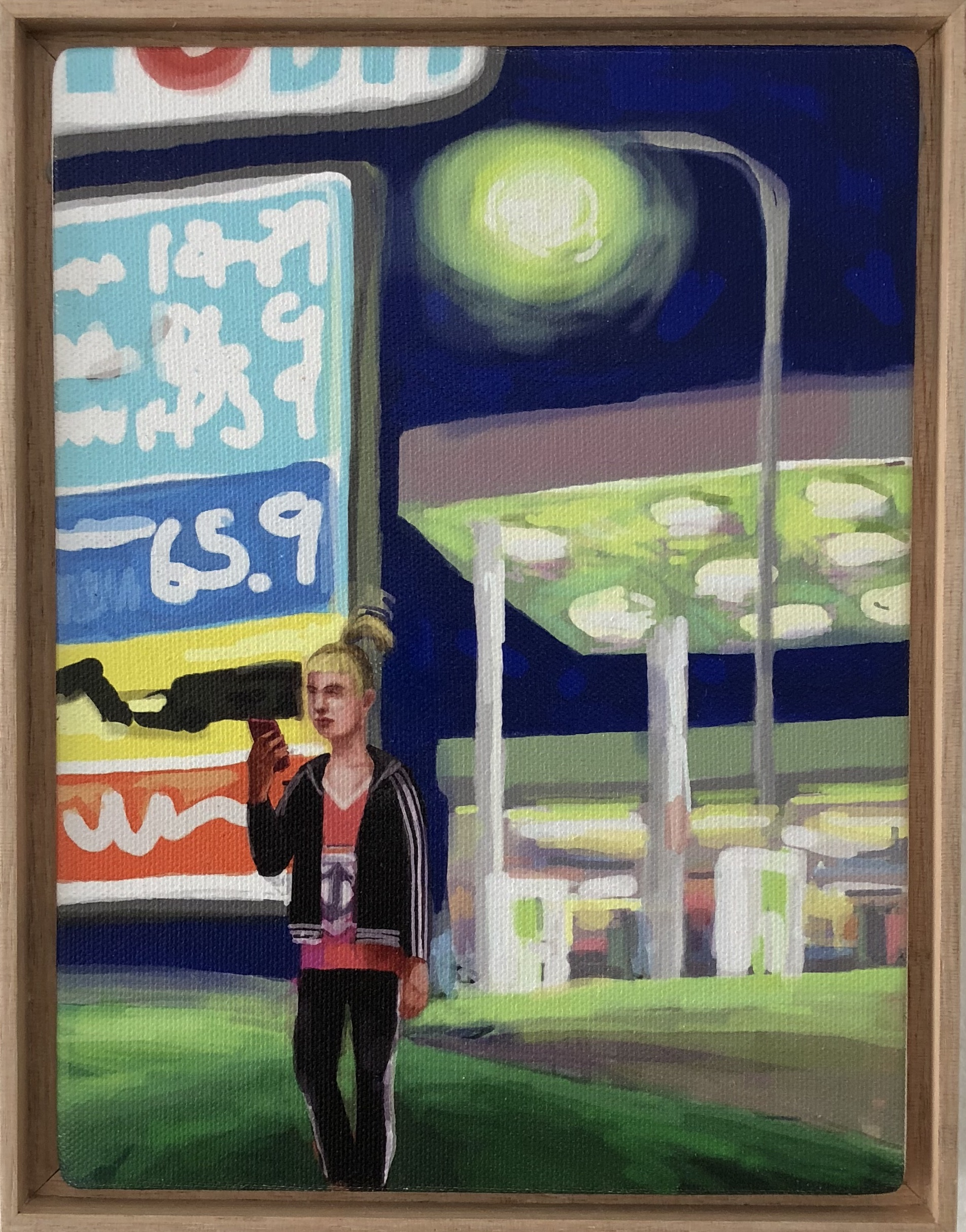 Peter Lankas  Servo hookup  2018 ipad drawing, archival print on canvas 23.5 x 18cm framed Artist Proof + edition of 10 $285.00 each (AP + 10 available)  edition includes framing