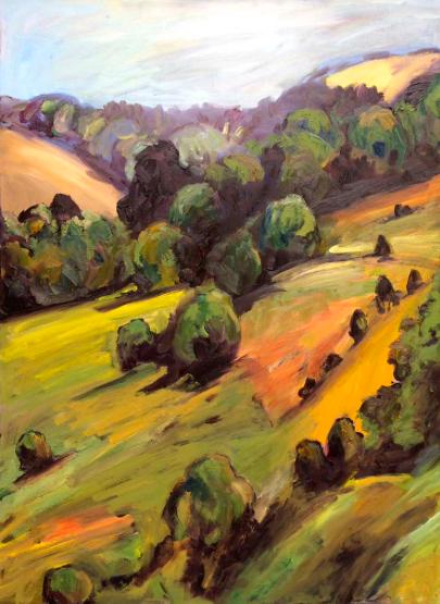 Sally Reynolds   As the Crow Flies  2018  oil on canvas  80x90cm  $1800.00