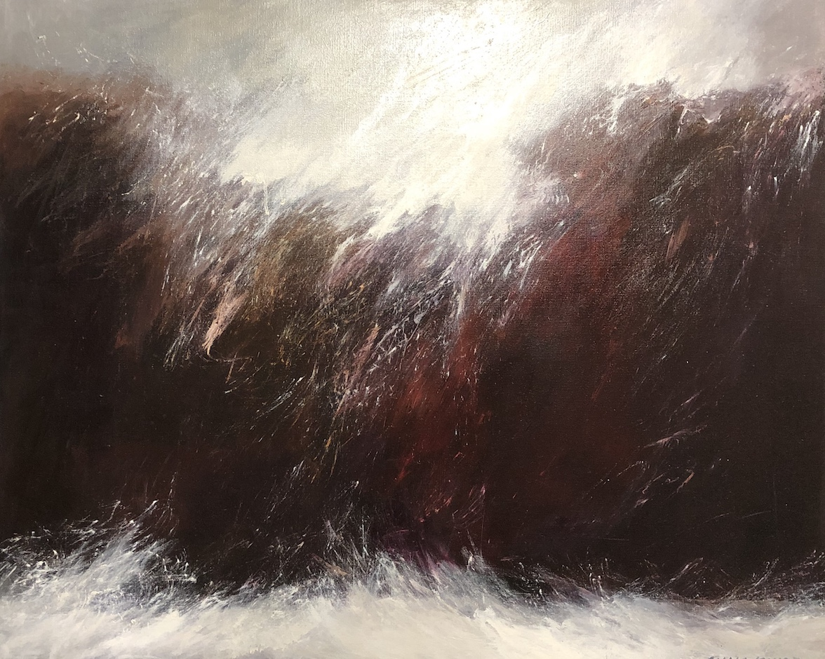 Lydia Miller Stormy oil on canvas 60 x 80cm 61 x76cm $850.00