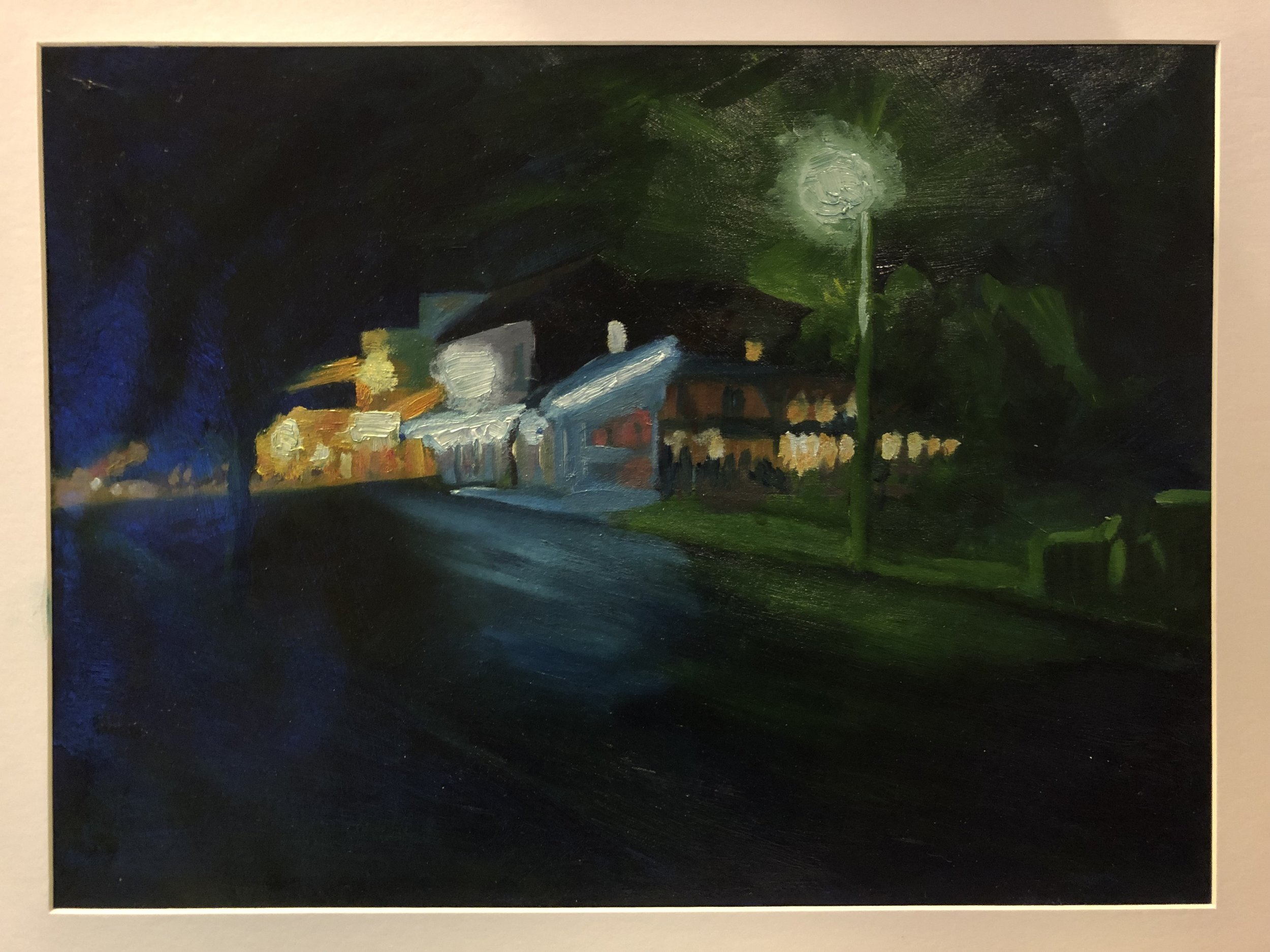 Patrick Mavety  Wicko Pub  2019 oil on cotton paper 43 x 53cm mounted SOLD
