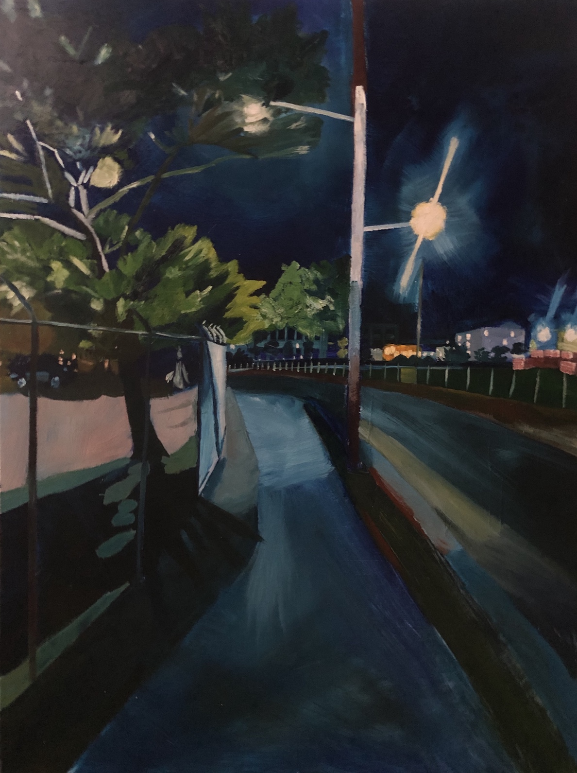 Patrick Mavety  Haunting Honeysuckle  2019 oil on canvas 76 x 101cm $910.00
