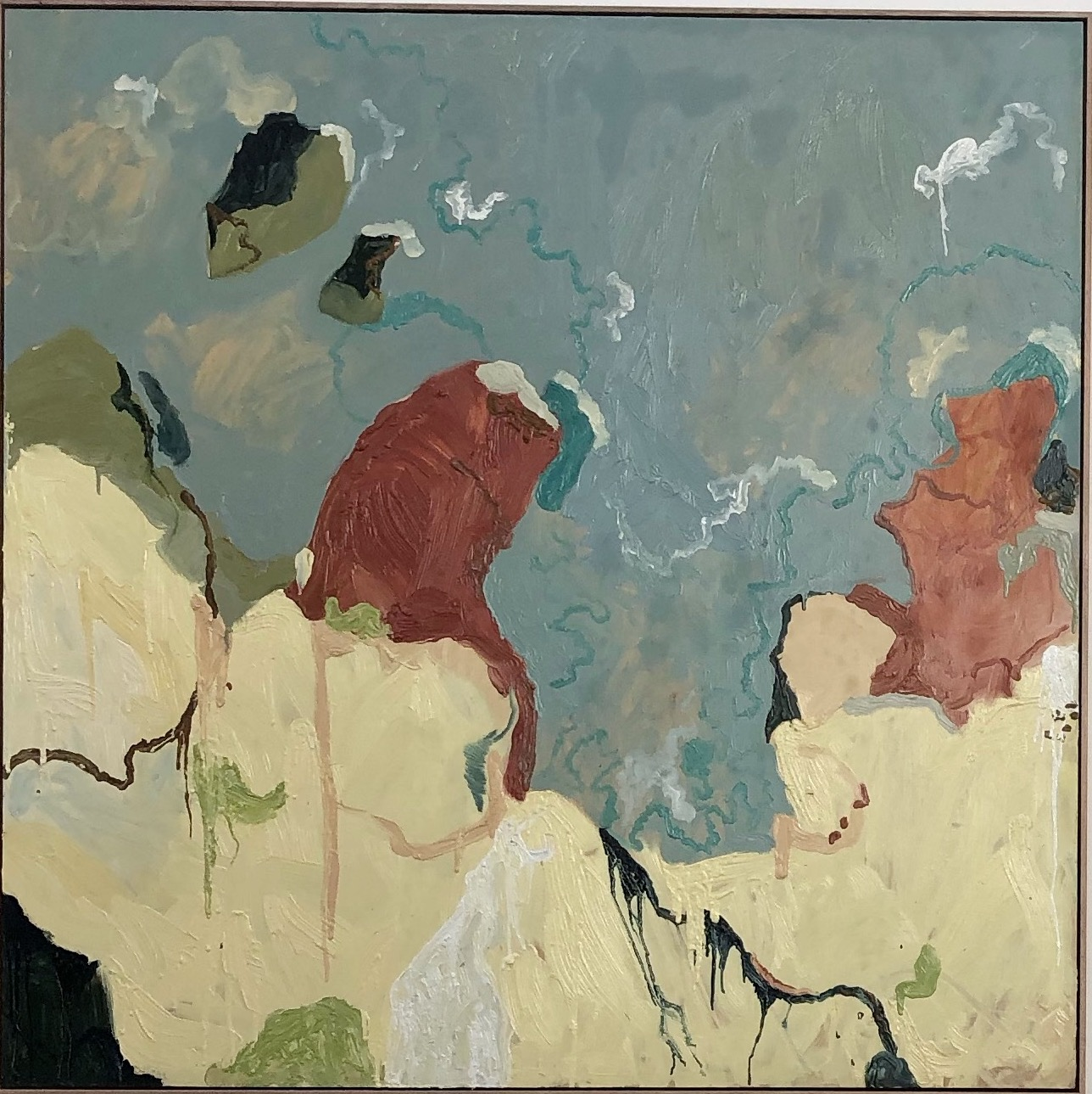 1. Michelle Teear Ocean Edge 2019 oil on plywood 120x120cm framed $2200.00