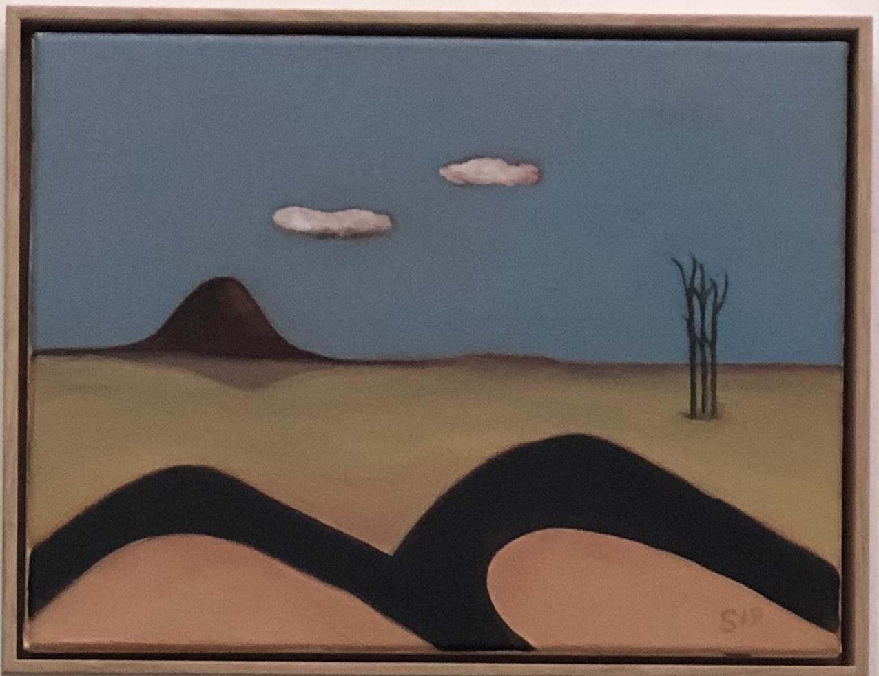 18. Malcolm Sands The Road Through Bylong 2019 oil on canvas 33 x 43.5cm framed $450.00