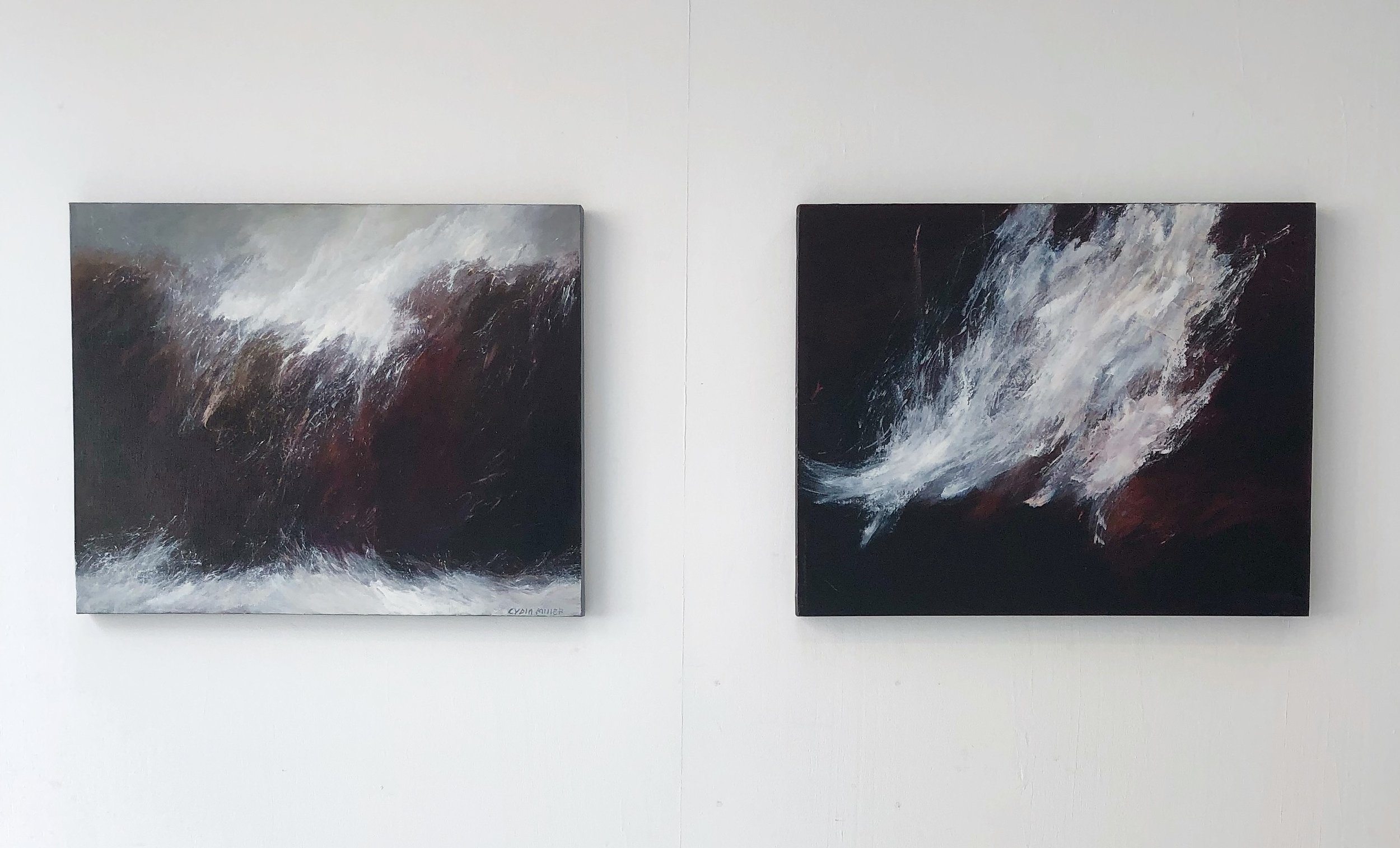 Lydia Miller Stormy oil on canvas 61 x76cm $850.00 Lydia Miller Sea spray oil on canvas 61 x76cm $850.00