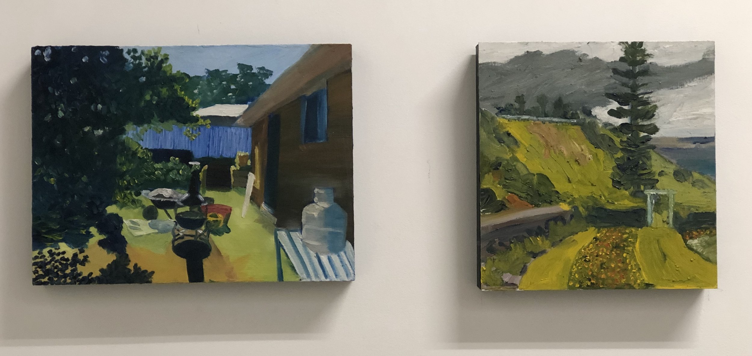 26.  Patrick Mavety Home is where the heart is 2019 oil on board 30 x 40cm $390.00  27.  Patrick Mavety Windy Eddie 2019 oil on board 30 x 40cm $370.00