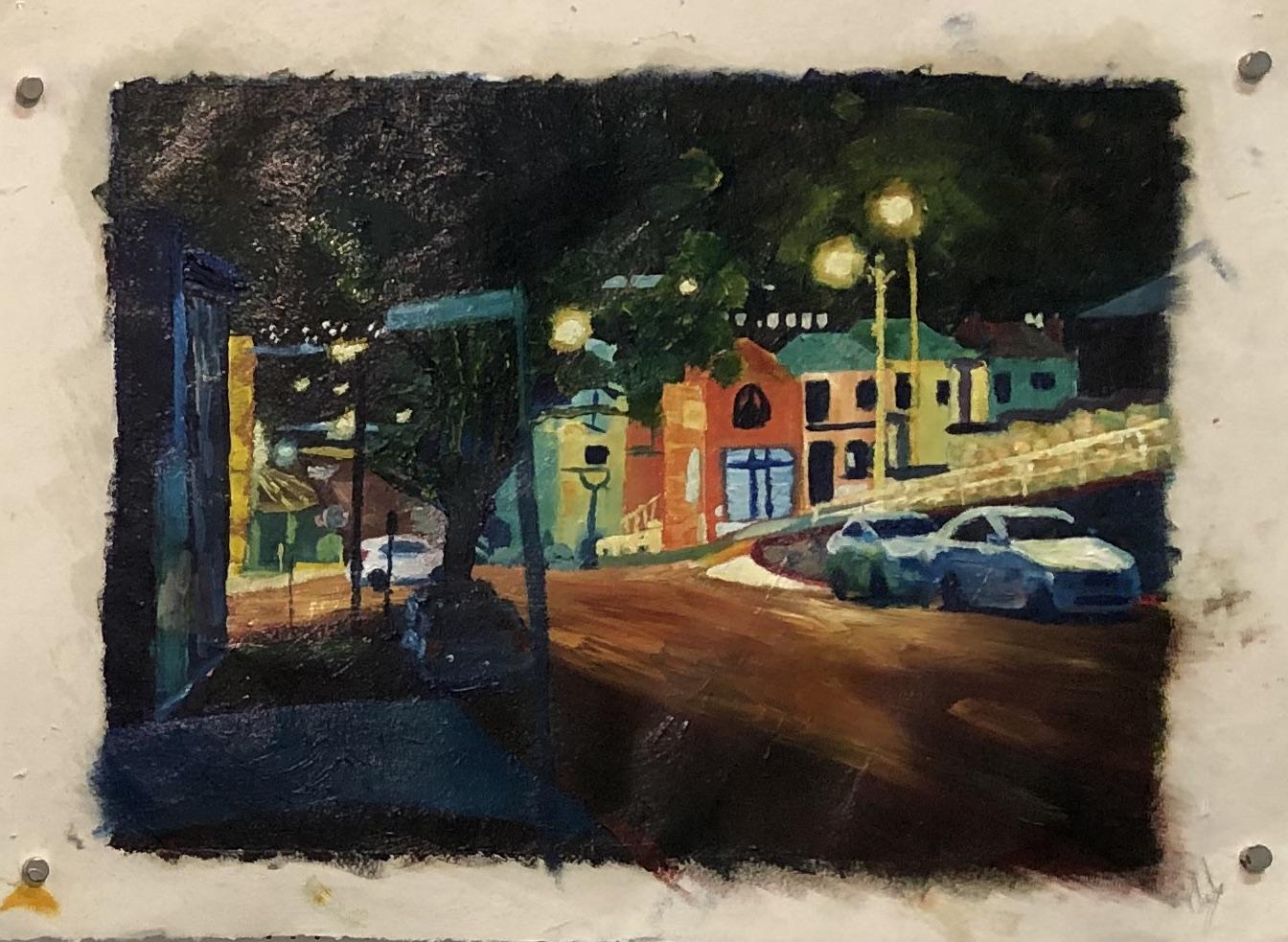22. Patrick Mavety  Wolfe St commute  2019 oil on cotton paper 30 x 40cm unframed $390.00