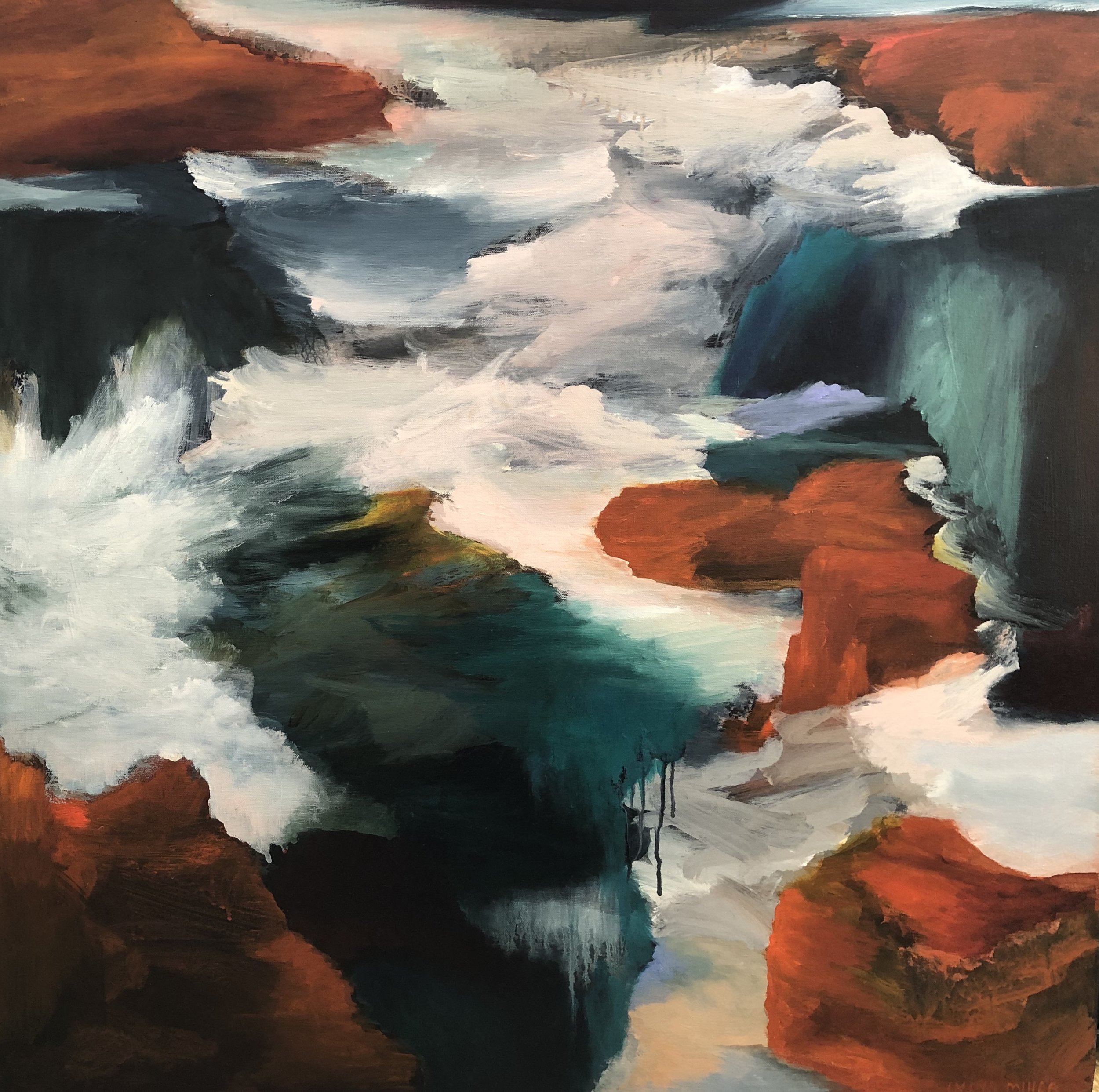 Lydia Miller  Turning Tide  oil on canvas 91x91cm $2200.00