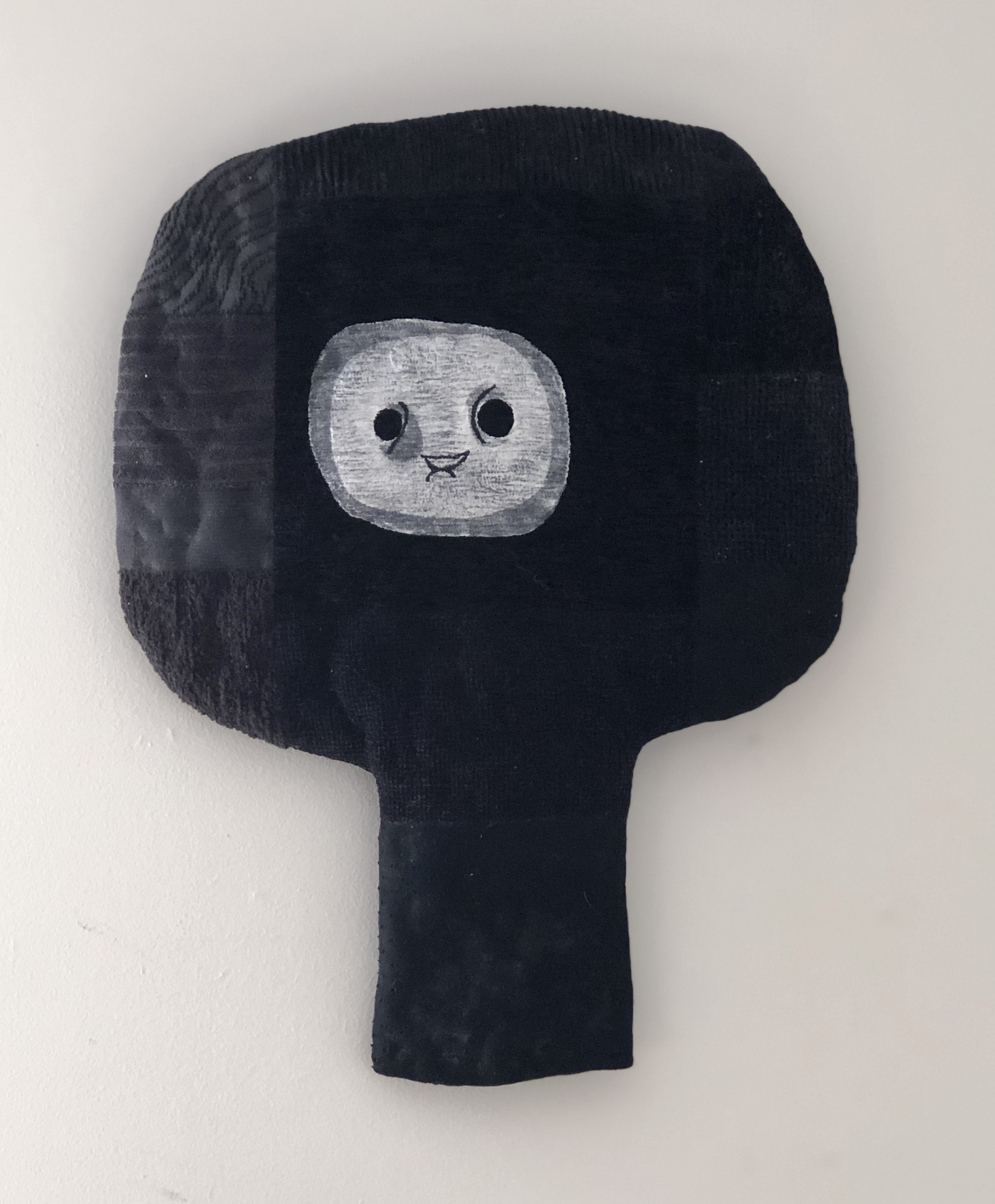 Olivia Parsonage Head (black) soft wall sculpture $190.00