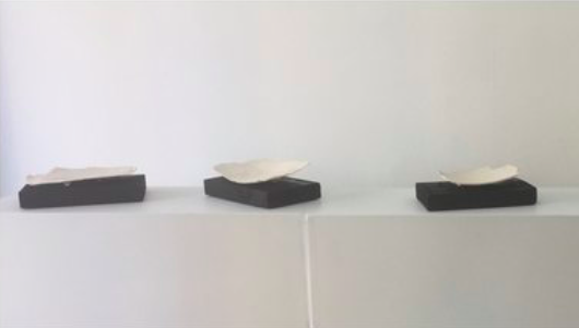John Heaney  Last Dance i,ii,iii  2018 stoneware and wood $200.00 each