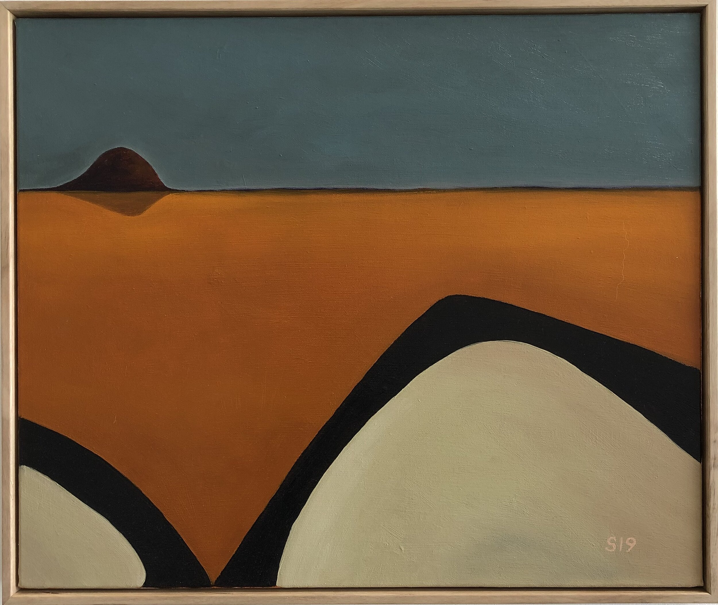 5. Malcolm Sands Wollemi Dreaming 2019 oil on canvas 53x63 framed $650.00