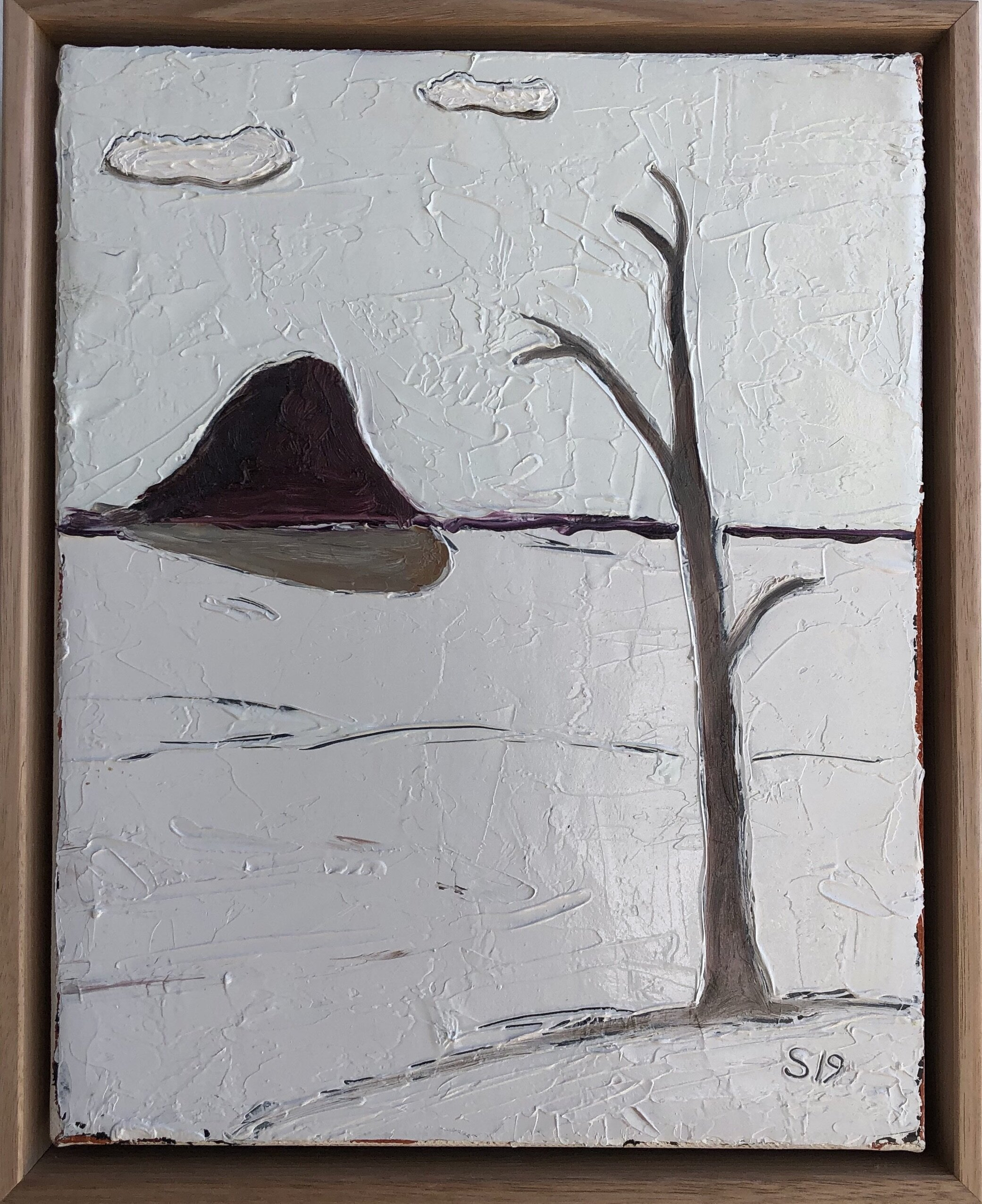 11. Malcolm Sands White out – Ilford 2019 oil on canvas 28x23cm framed $280.00 SOLD