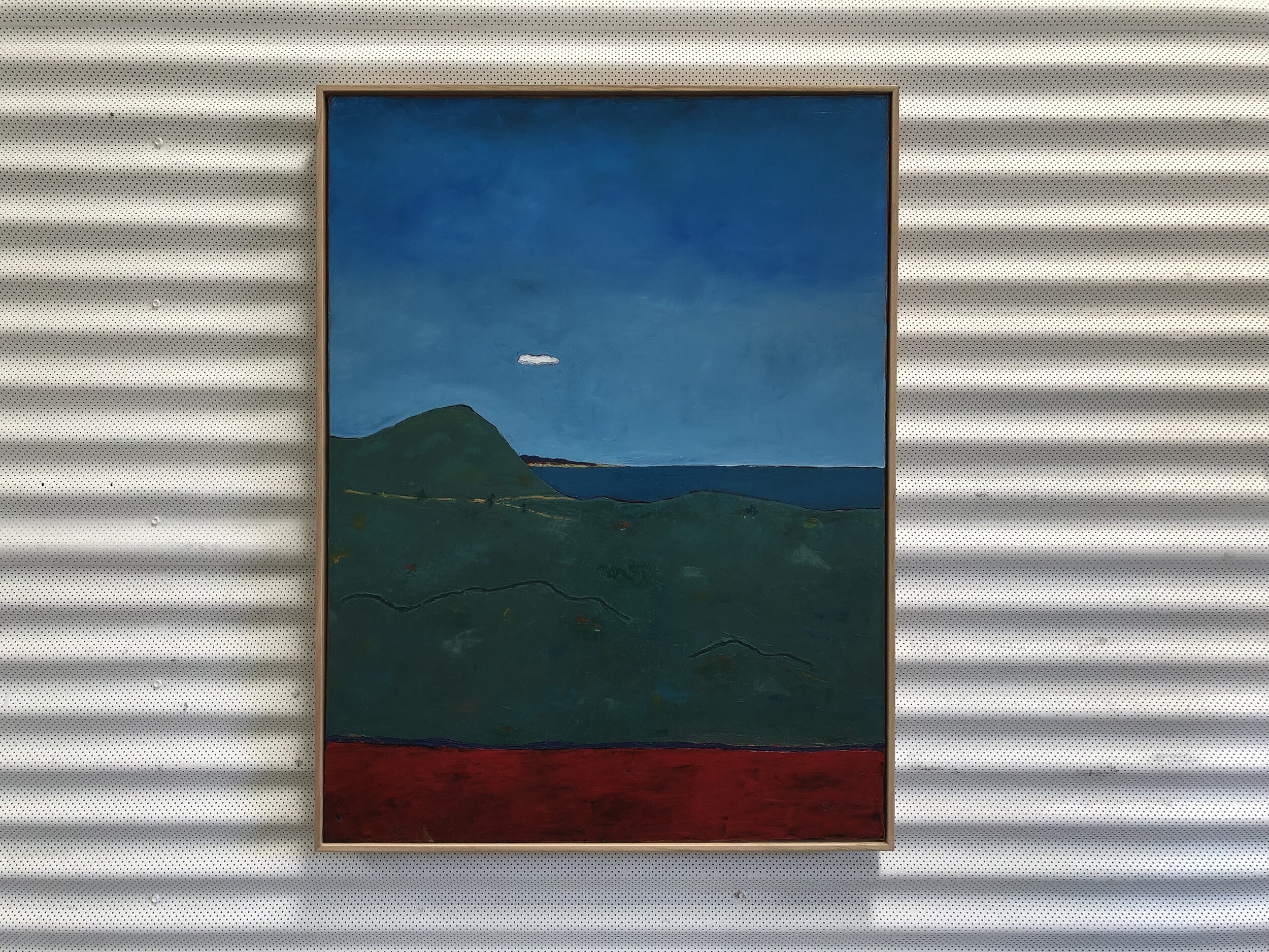 19. Malcolm Sands Dudley Bluff III 2019 oil on canvas 104x79cm framed $1500.00