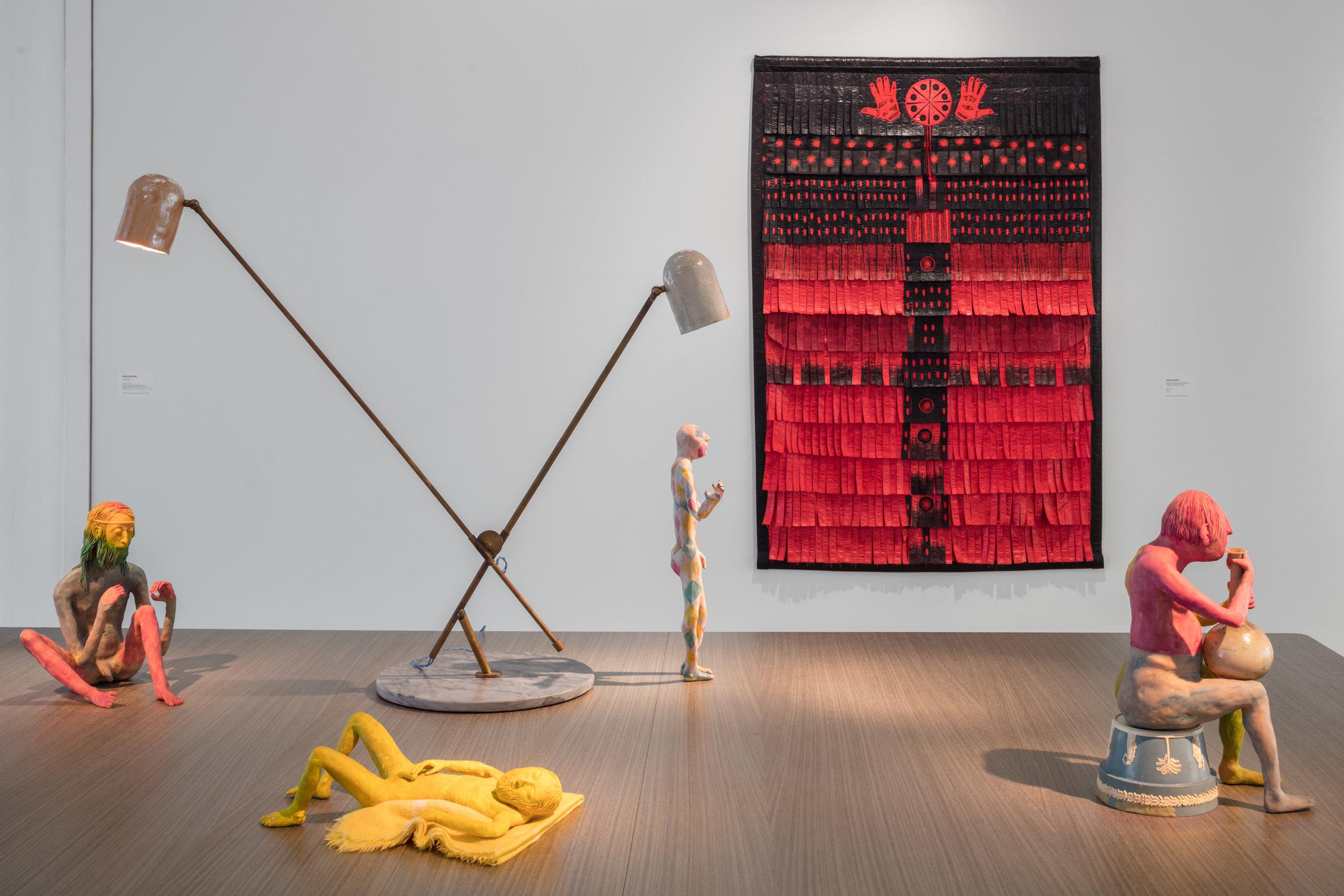Installationsvy NyMaterialism, Bonniers Konsthall. Foto: Jean-Baptiste Berangér