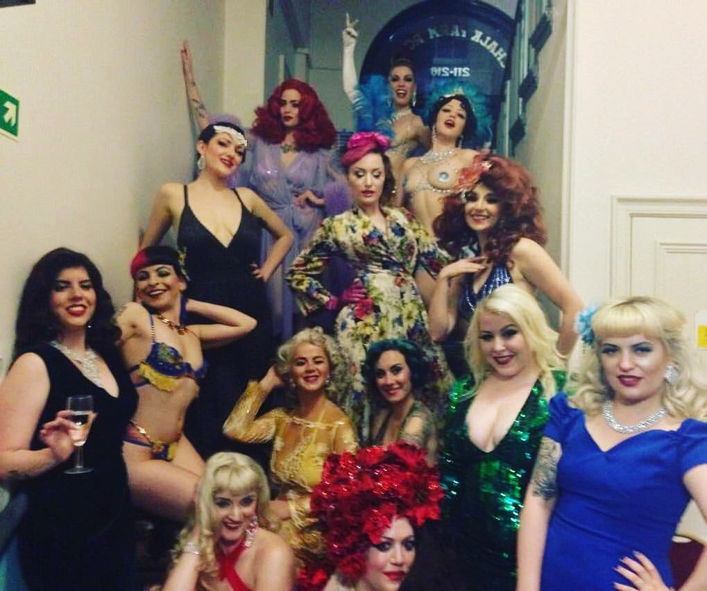 The Cast of Gin and Jazz at the London Burlesque Festival, May 19th 2016  Photo by Joanna Kor
