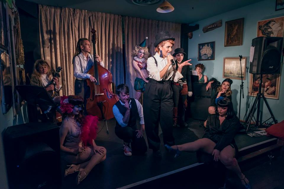 The cast and crew of After Hours Cabaret Club