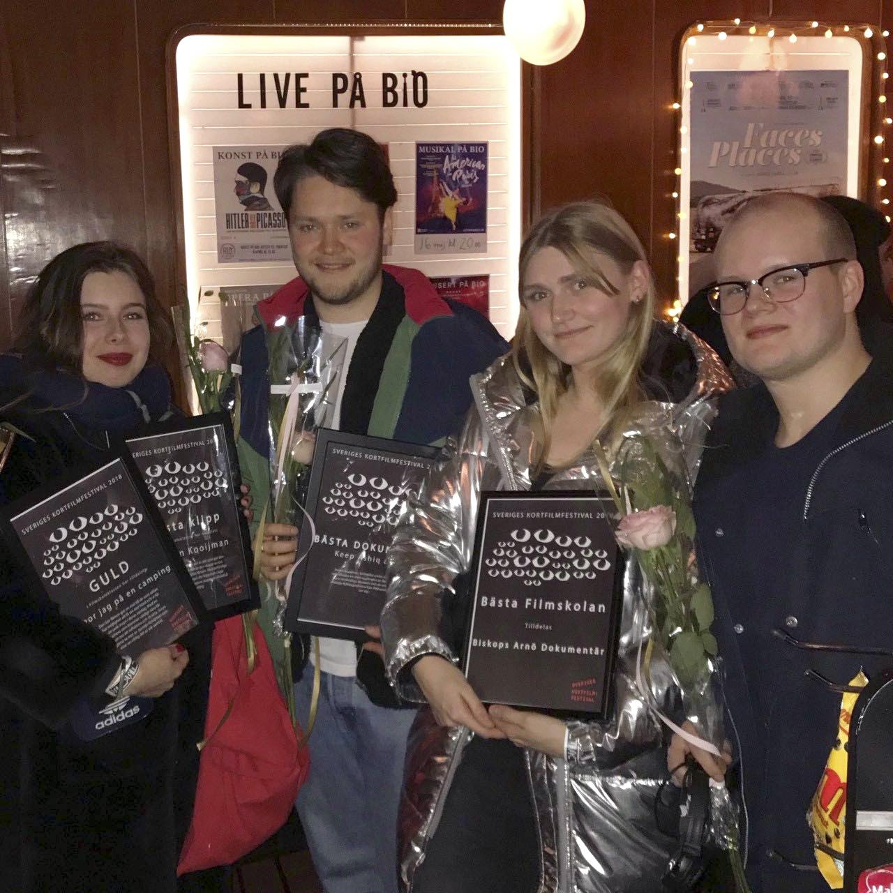 Från vänster: Jasmijn Kooijman, Rikard Nilsson, Kajsa Östgård och Joar Plunger.