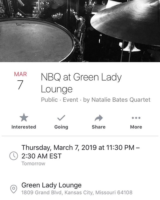 We're back! Green Lady Lounge tonight from 11:30-2:30am #ladyjazz #womeninjazz #kansascityjazz