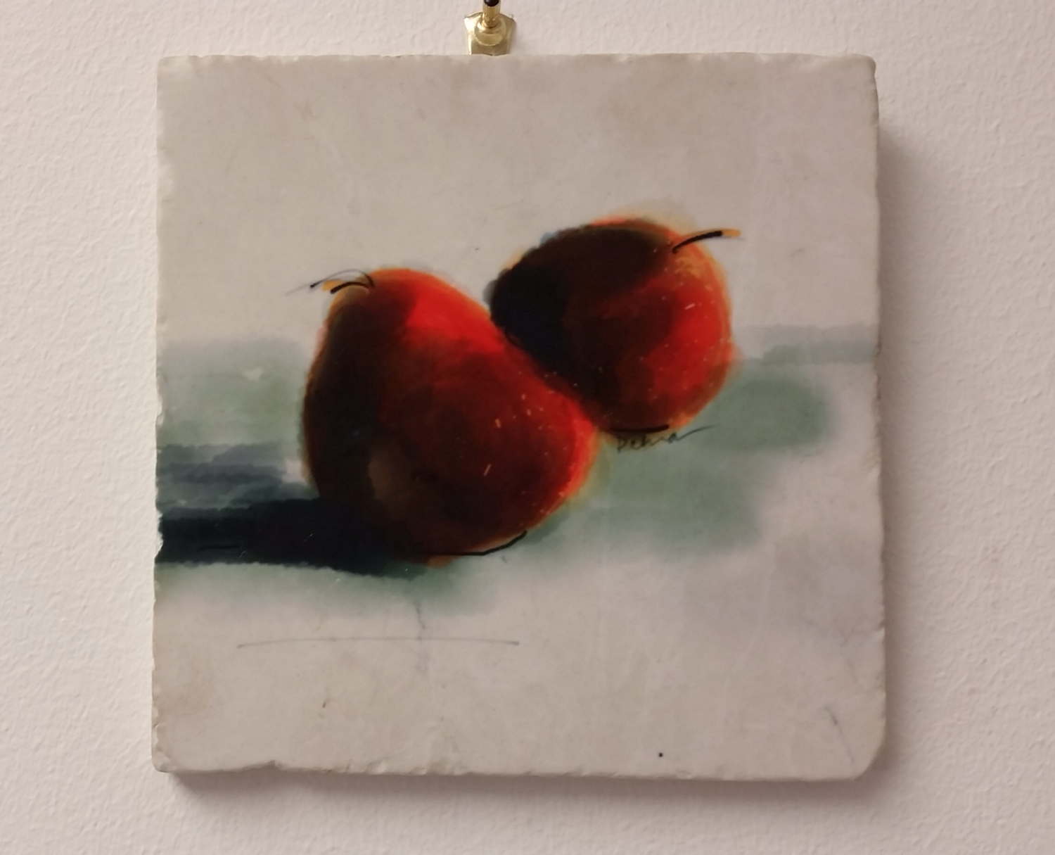 Two Red Pears, Tile