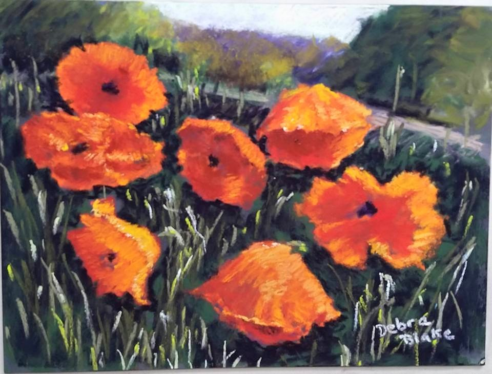 Zelly's Poppies (pastel)