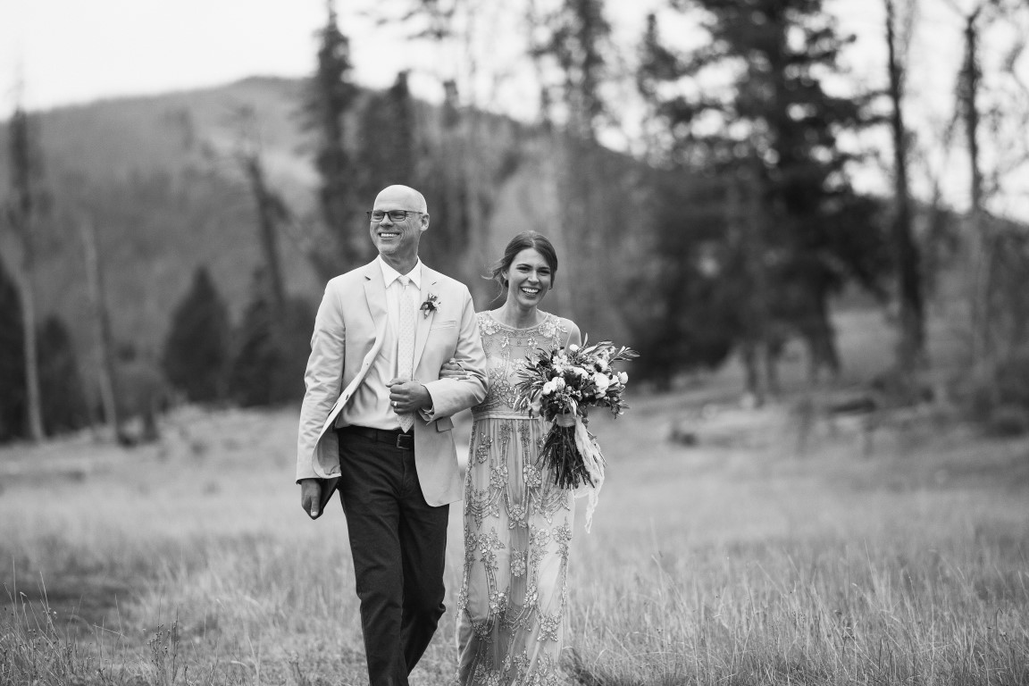 One proud father walking his lovely daughter down nature's aisle. I even got to officiate the ceremony and, believe it or not, mostly held myself together!
