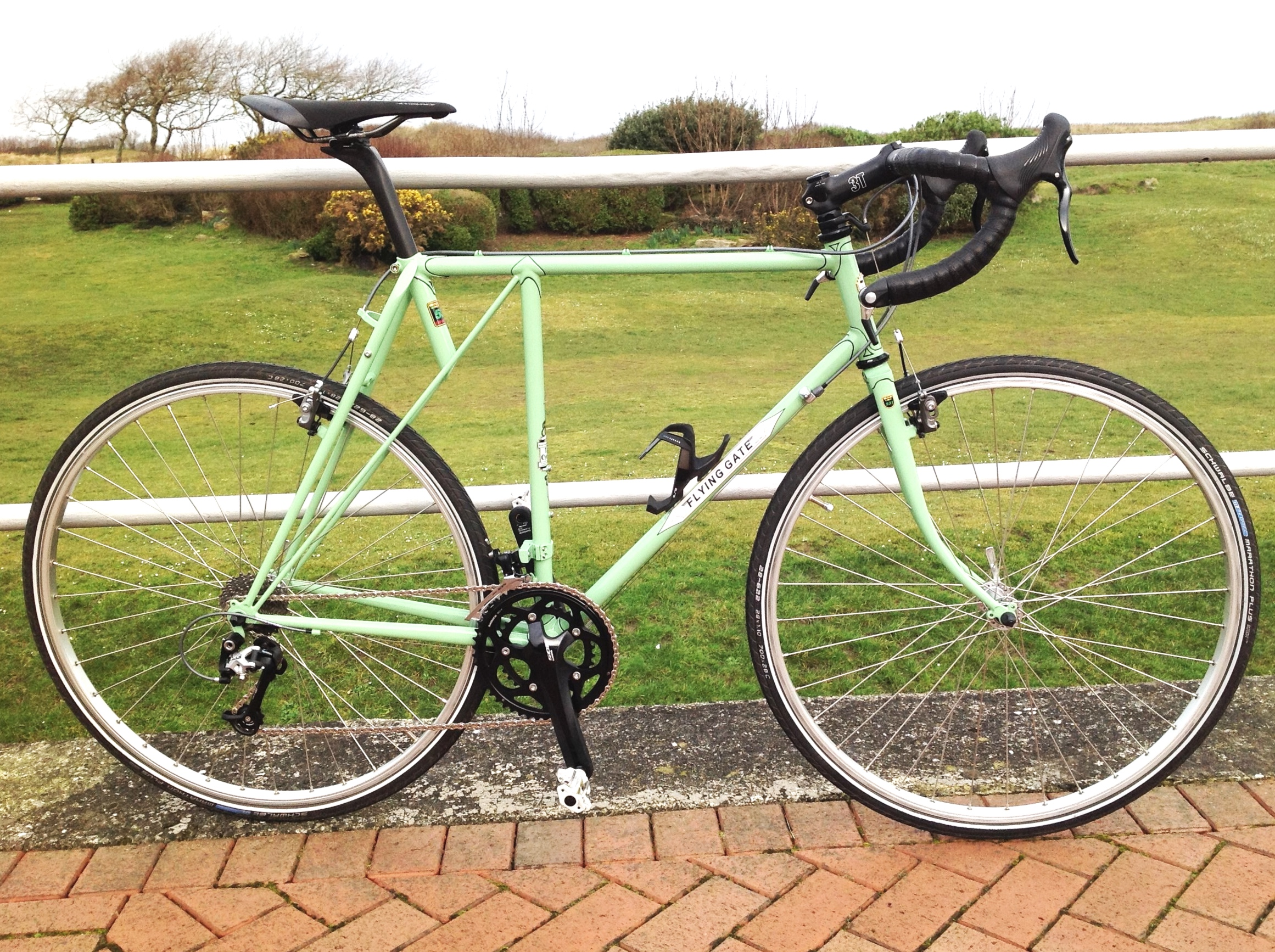 Paul's 1989 Flying Gate 'Dovedale' was renovated by me and resprayed by  Bob Jackson Cycles , Leeds in 2018.