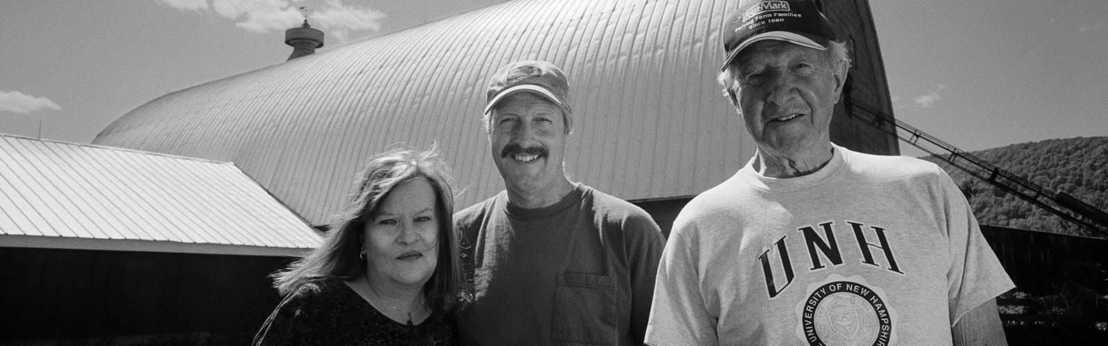 Barbara, Bob and Jim Williams at Mt. Toby Farm