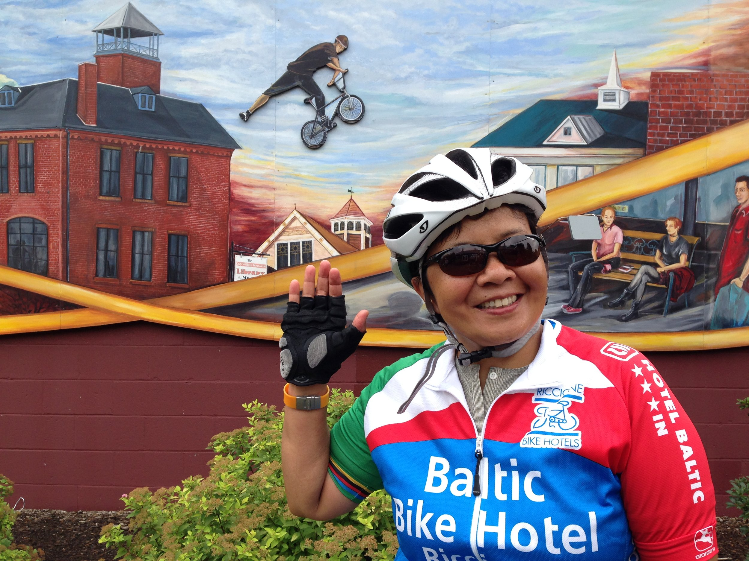 Mural Cyclist Jumps Aileen!