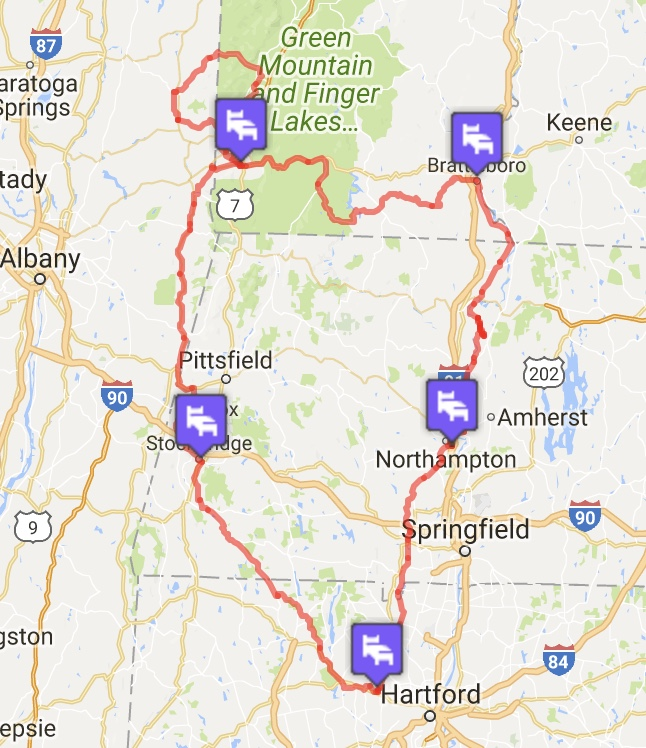 Our four-state route
