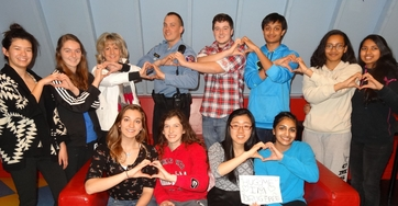 HC DrugFree's Teen Advisory Council created a Valentine's Day message to show teens that drinking alcohol and doing drugs doesn't impress others and only hurts themselves.