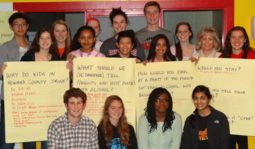 """HC DrugFree's Teen Advisory Council (TAC) brainstormed at their last meeting on the """"Be a Parent, Not a Friend"""" campaign launched by HC DrugFree."""