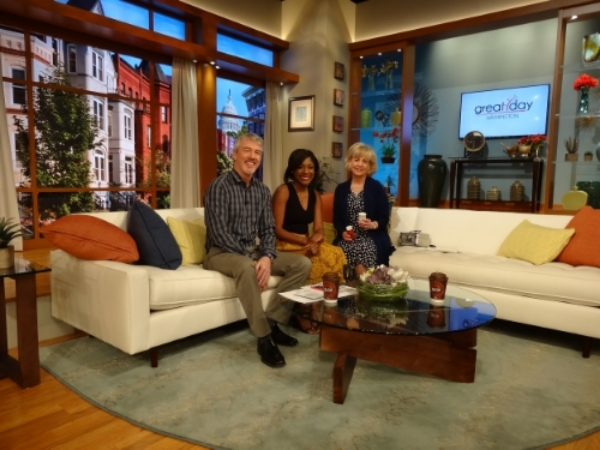 Pictured left to right are co-hosts Chris Leary and Markette Sheppard with HC DrugFree's Executive Director Joan Webb Scornaienchi.
