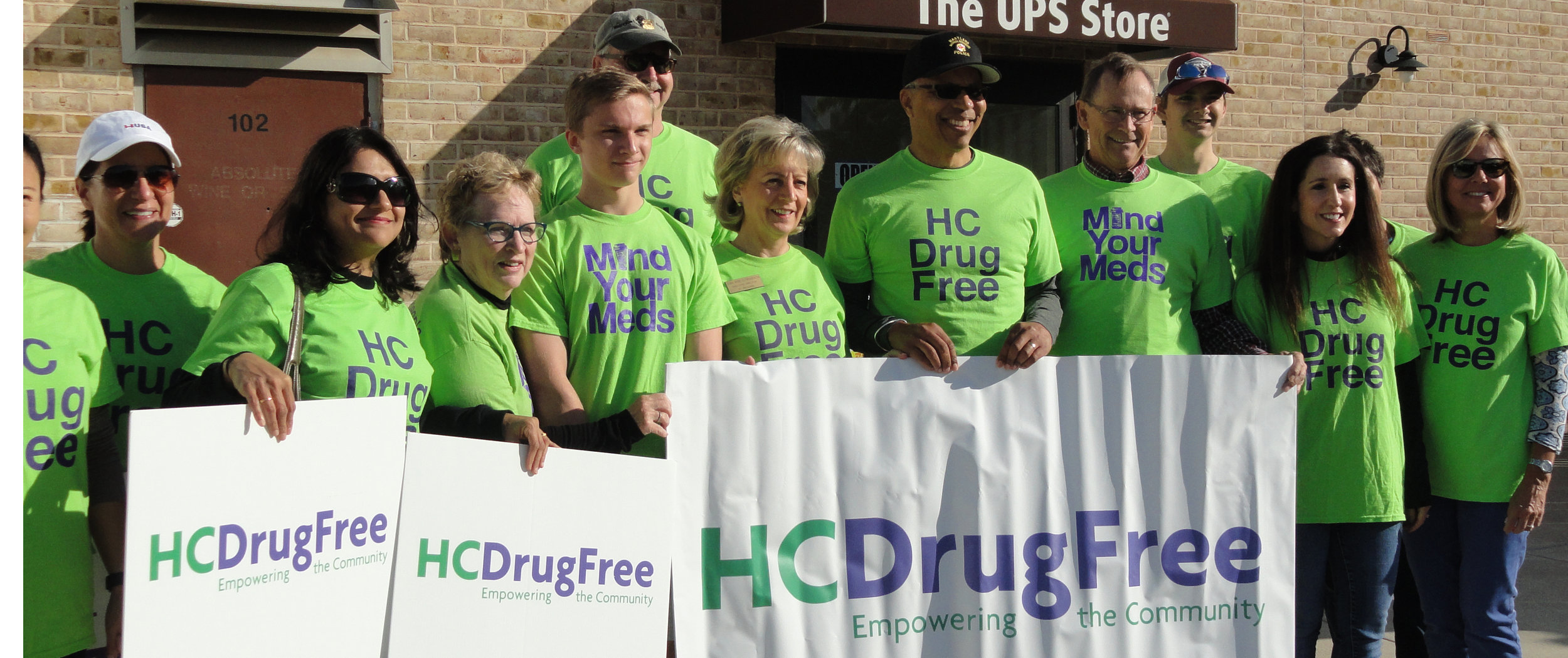 Members of HC DrugFree's team including MD Lt. Governor Boyd Rutherford