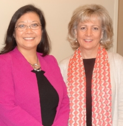 Pictured: Dr. Chan and HC DrugFree's Executive Director, Joan Webb Scornaienchi