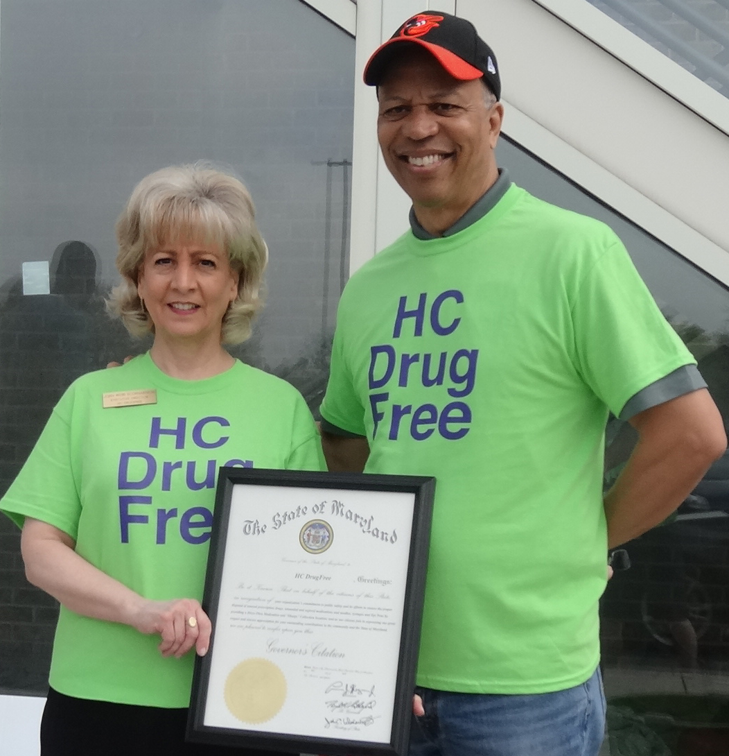 Maryland's Lt. Governor Boyd Rutherford presented HC DrugFree with a Governor's Citation.