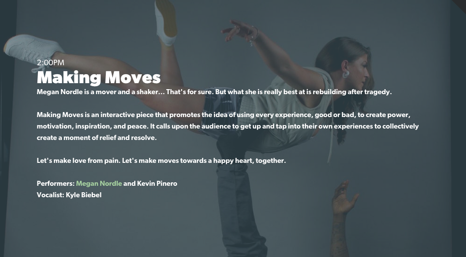 Megan Nordle | Choreographer | Making Moves | Loft227