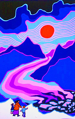 Ted Harrison - Kluane National Park, Yukon - Serigraph